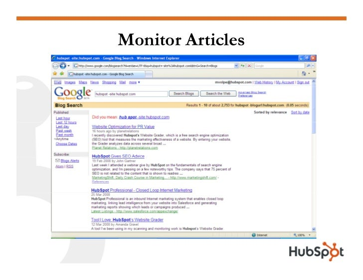 Monitor Articles