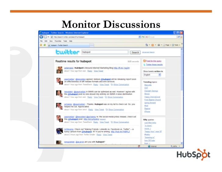 Monitor Discussions