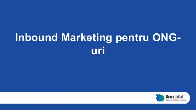Inbound Marketing pentru ONG- uri