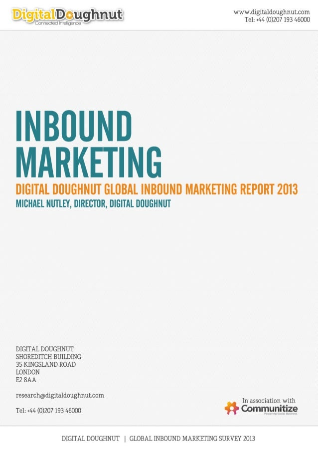 Digital Doughnut - 2013 Inbound marketing report