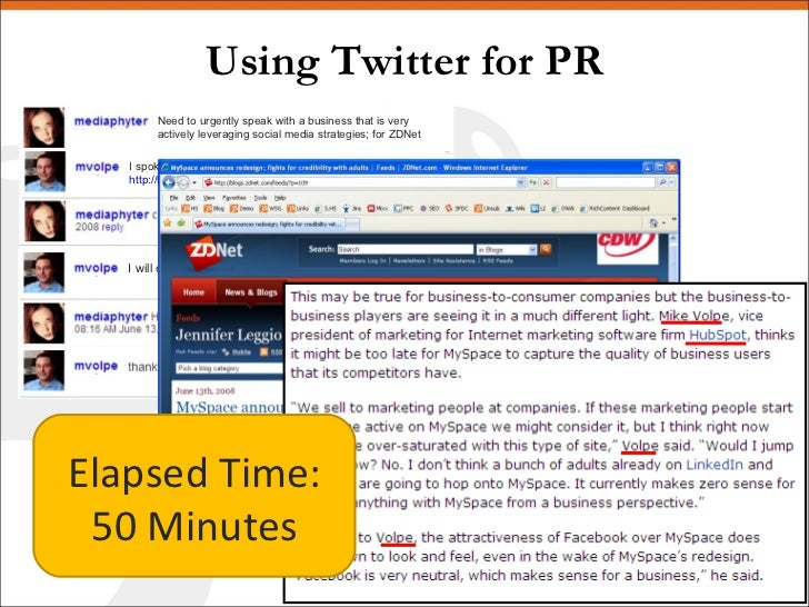 Using Twitter for PR Elapsed Time: 50 Minutes I will call you right now Need to urgently speak with a business that is ver...