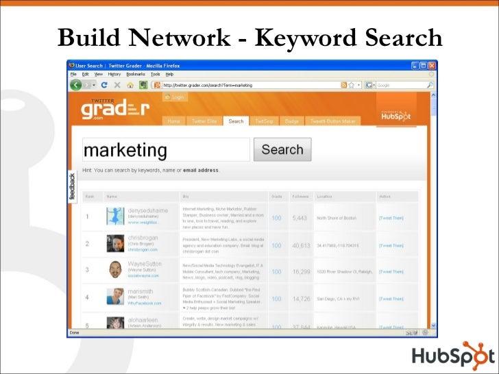 Build Network - Keyword Search