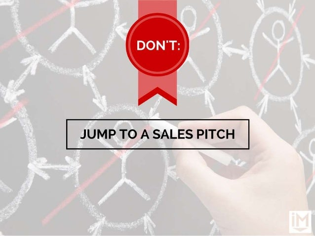JUMP TO A SALES PITCH