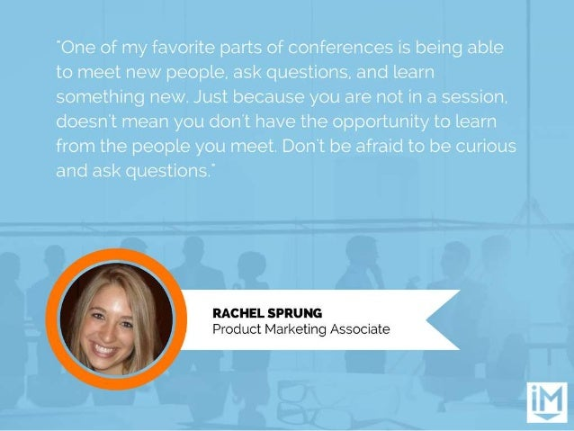 """""""One of my favorite parts of conferences is being able to meet new people.  ask questions.  and learn something new.  Just..."""