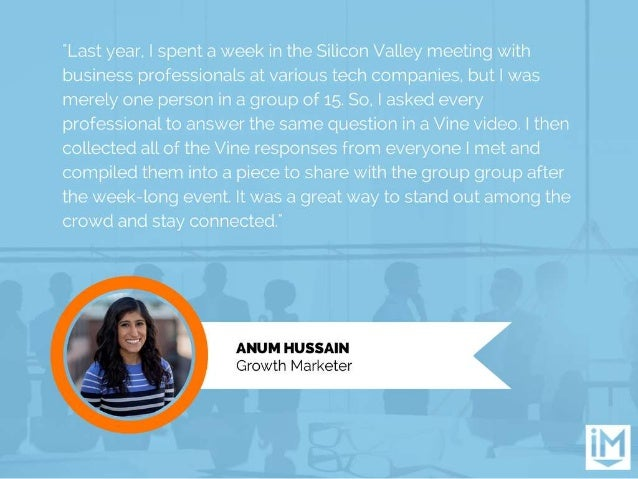 """""""Last year,  I spent a week in the Silicon Valley meeting with business professionals at various tech companies.  but I wa..."""