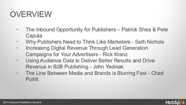 Inbound Publishers Summit 2015 Recap Slide 2