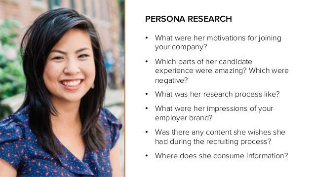 • What were her motivations for joining your company? • Which parts of her candidate experience were amazing? Which were...