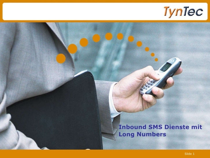 Inbound SMS Dienste mit  Long Numbers