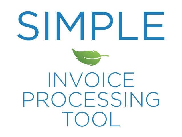 SIMPLE INVOICE PROCESSING TOOL