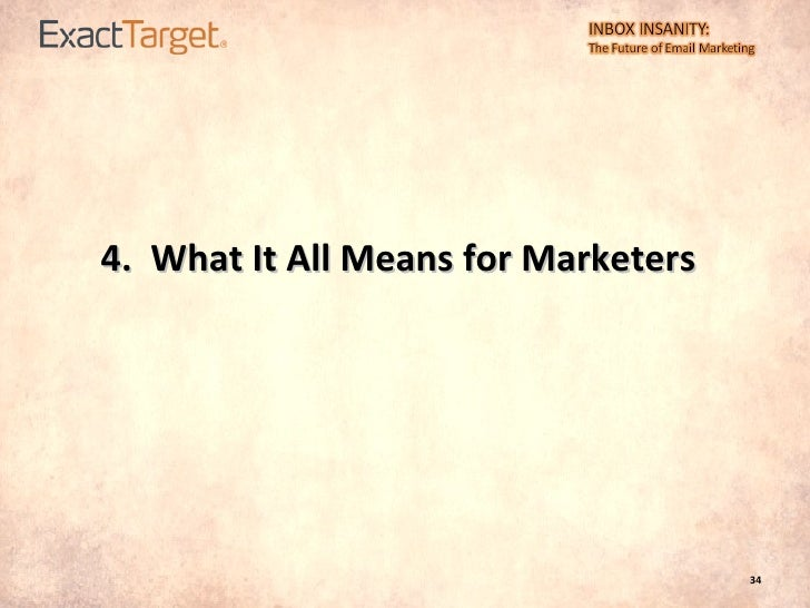 4.  What It All Means for Marketers