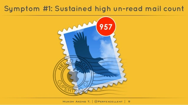Mukom Akong T. | @Perfexcellent | Symptom #1: Sustained high un-read mail count 9 957