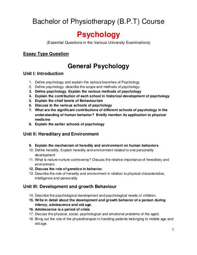 adolescent psychology essay questions