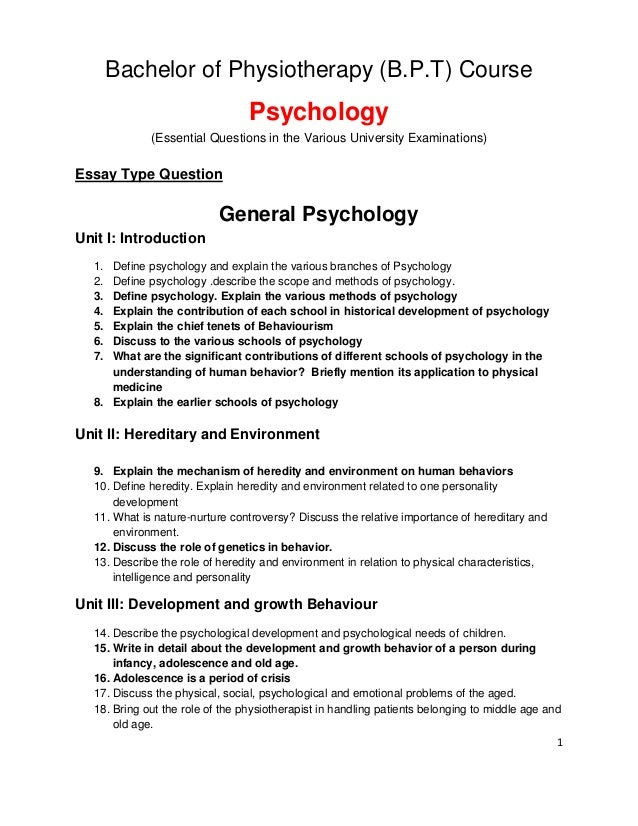 In B P T, essential question for Psychology by S Lakshmanan Psycholog…