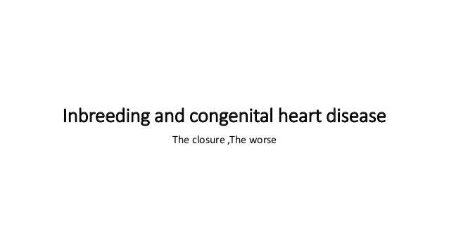 Inbreeding and congenital heart disease The closure ,The worse