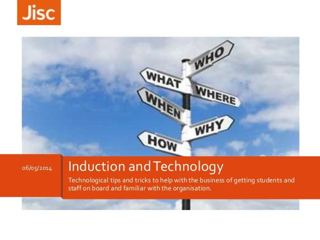 Technological tips and tricks to help with the business of getting students and staff on board and familiar with the organ...
