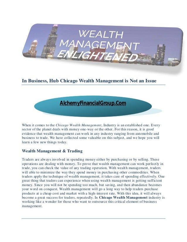 The wealth hub business plan