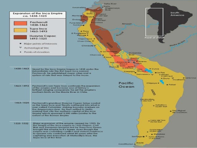 Inca Empire Location Map