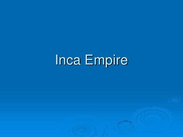 Inca Empire<br />