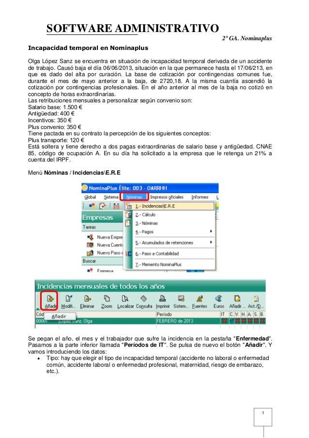 SOFTWARE ADMINISTRATIVO                                                                          2º GA. NominaplusIncapaci...
