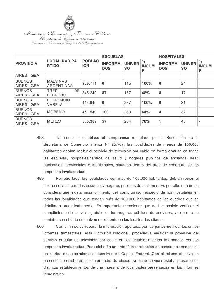 Dictamen CNDC Cablevision Multicanal 770 09