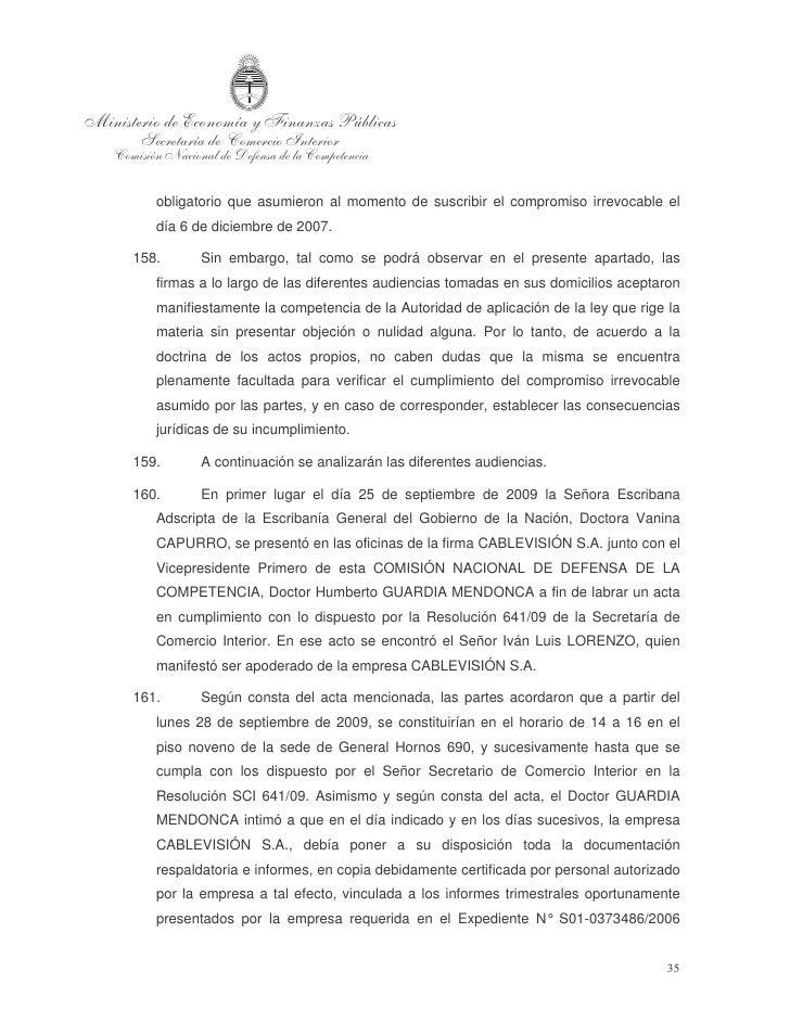 """GRUPO CLARÍN S.A., VISTONE LLC, FINTECH ADVISORY INC., FINTECH    MEDIA LLC, VLG ARGENTINA LLC Y CABLEVISIÓN S.A. S/ NOTI..."