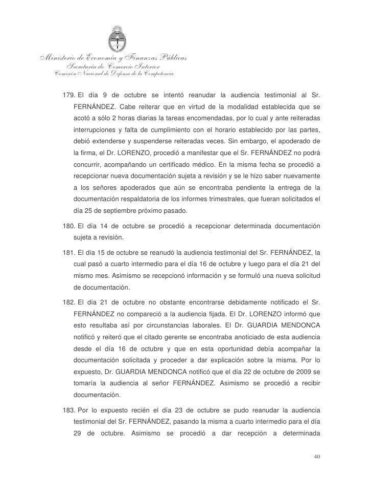 documentación, sin que esto implique conformidad con la misma.  184. El día 28 de octubre se recepcionó documentación requ...