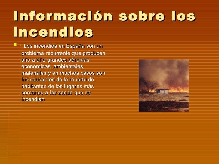 Incendios forestales for Informacion sobre los arquitectos