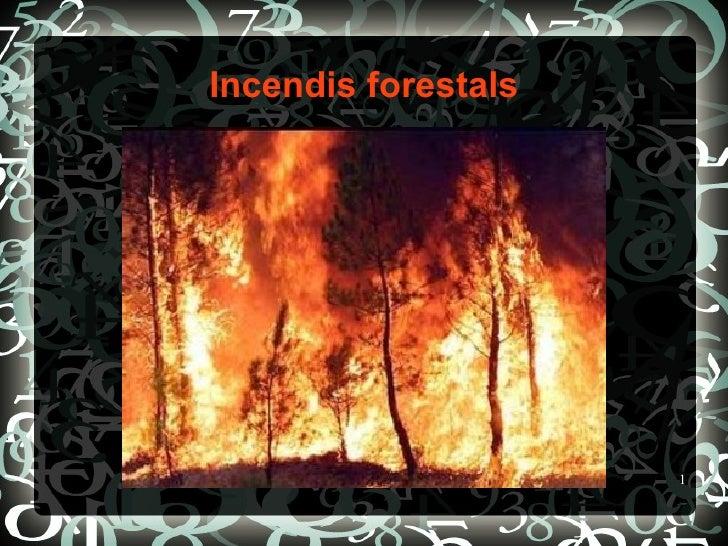 Incendis forestals                     1
