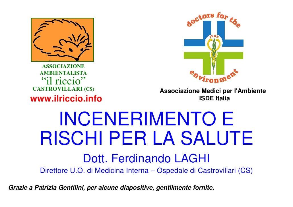 """ASSOCIAZIONE            AMBIENTALISTA            """"il riccio""""         CASTROVILLARI (CS)                           Associaz..."""
