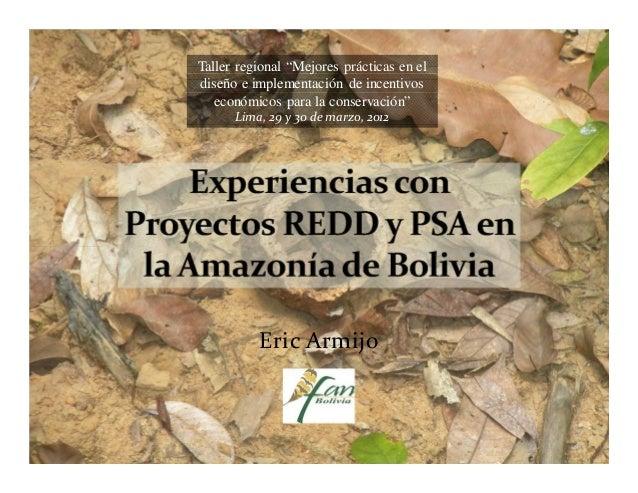 """Taller regional """"Mejores prácticas en eldiseño e implementación de incentivos   económicos para la conservación""""      Lima..."""