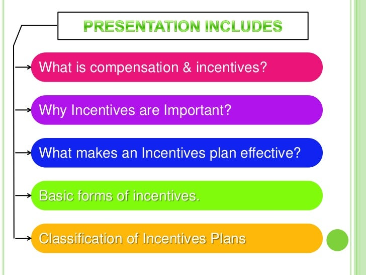 Why Incentives are Important?Incentives are considered beneficial to both employers as well as employeesin following ways....