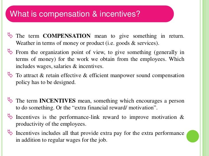 What makes an Incentives plan effective? In the absence of mutual trust between management & workers, an    incentives ma...