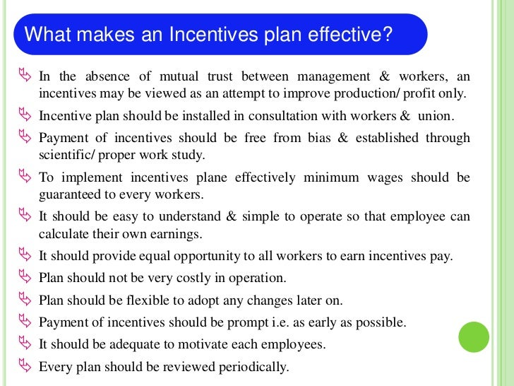 Classification of Incentives Plans                 Incentives plans Individual     Organization- wide     GroupTime-based ...