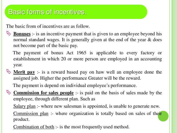 Individual Time based incentive plan  – Under time based plan, per hour wage rate is determined &     incentives paid on ...