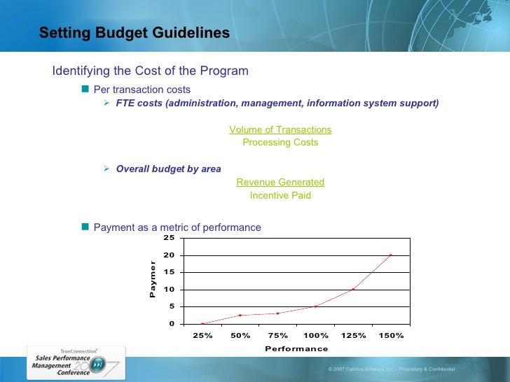 Setting Budget Guidelines <ul><li>Identifying the Cost of the Program </li></ul><ul><ul><li>Per transaction costs </li></u...