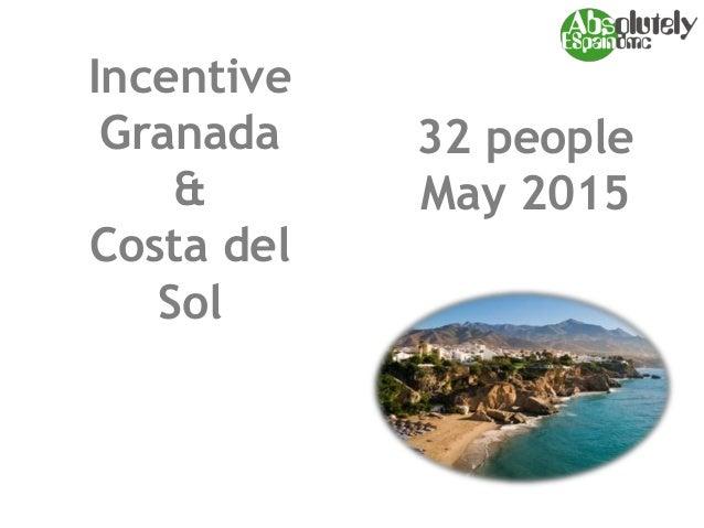 Incentive Granada & Costa del Sol 32 people May 2015
