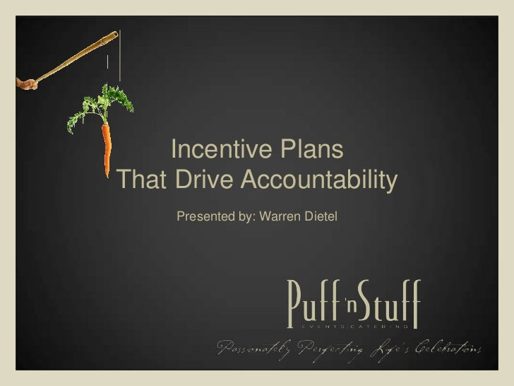 Incentive Plans That Drive Accountability