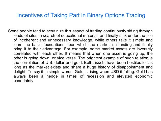 What people say about binary options