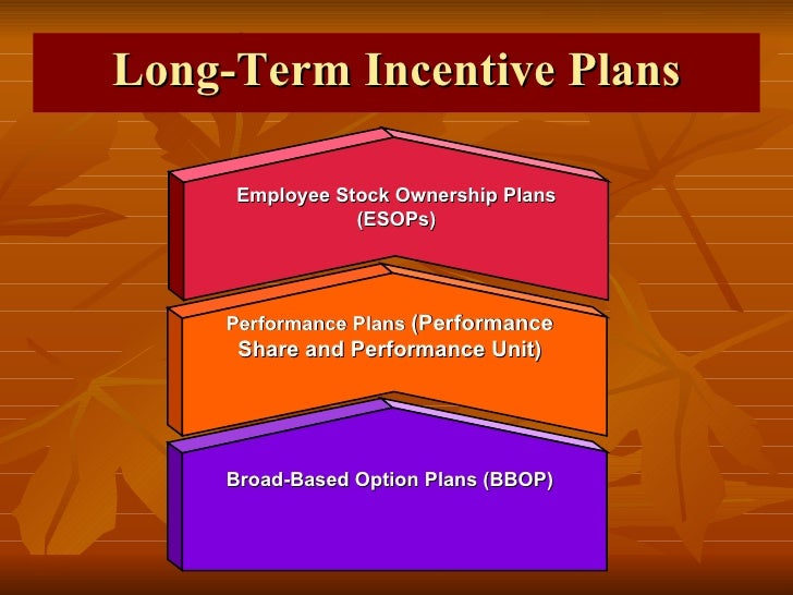Incentives plans for Long term incentive plan design