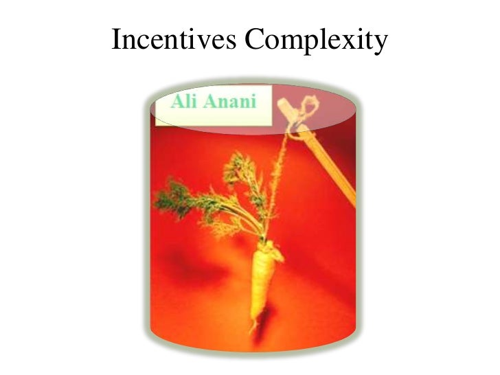 Incentives Complexity