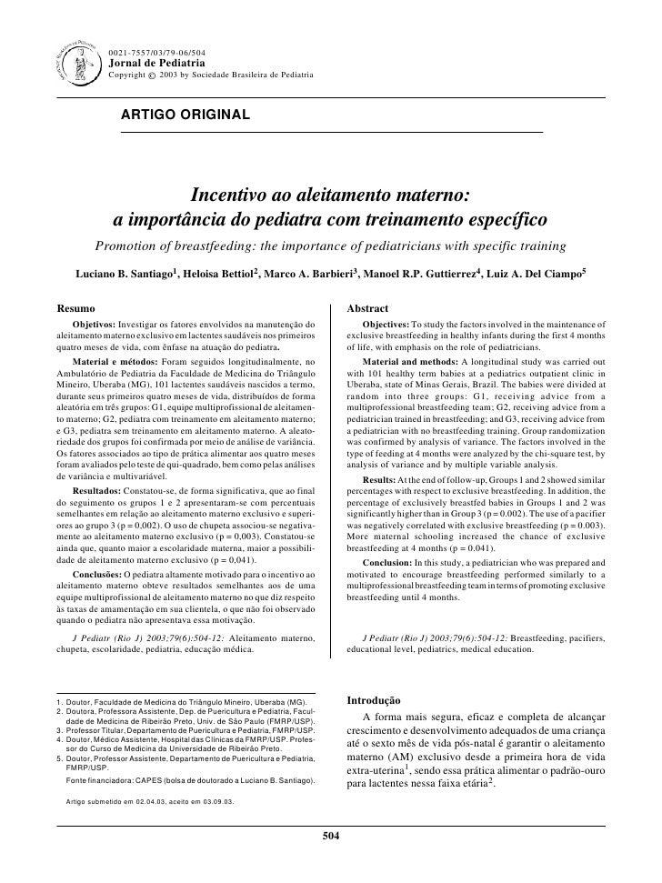 0021-7557/03/79-06/504                Jornal de Pediatria                Copyright © 2003 by Sociedade Brasileira de Pedia...
