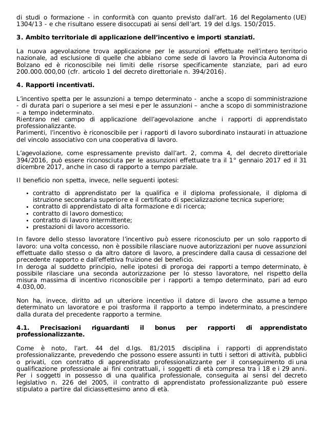 Incentivo Occupazione Giovani 2017