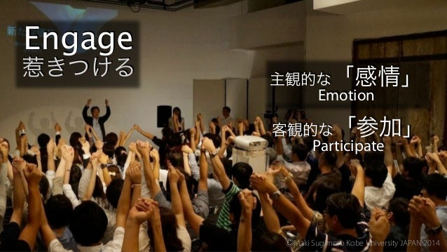 Take home message 提言 ⒸMaki Sugimoto Kobe University JAPAN 2014