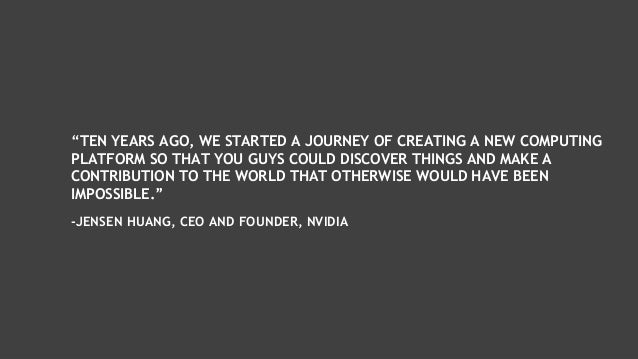 """""""TEN YEARS AGO, WE STARTED A JOURNEY OF CREATING A NEW COMPUTING PLATFORM SO THAT YOU GUYS COULD DISCOVER THINGS AND MAKE ..."""