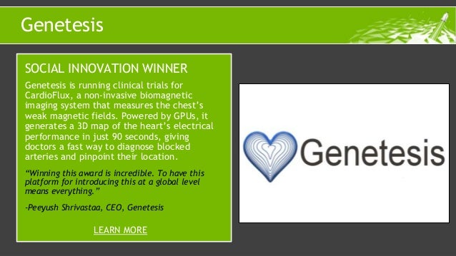Genetesis is running clinical trials for CardioFlux, a non-invasive biomagnetic imaging system that measures the chest's w...