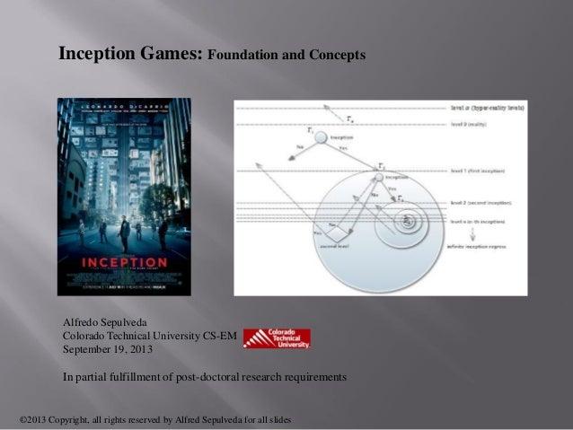 Inception Games: Foundation and Concepts Alfredo Sepulveda Colorado Technical University CS-EM September 19, 2013 In parti...