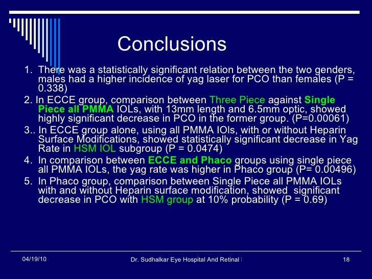 Conclusions  <ul><li>1. There was a statistically significant relation between the two genders, males had a higher inciden...
