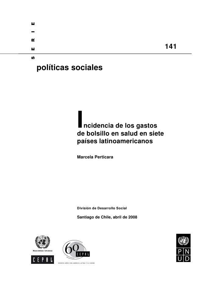 E I R                                                     141 E S         políticas sociales                    I ncidenci...