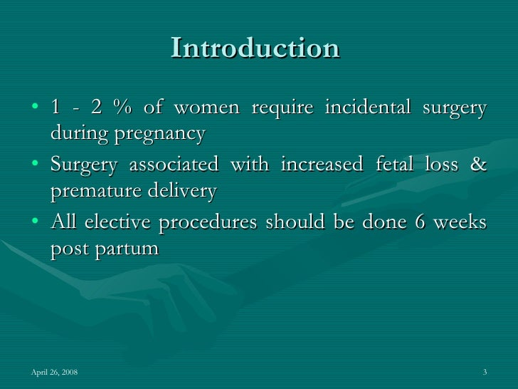 what does pregnant state incidental mean