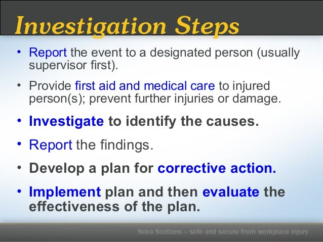 incident investigation and root cause analysis